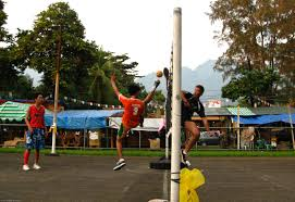 Sepak Takraw: Player Kicking
